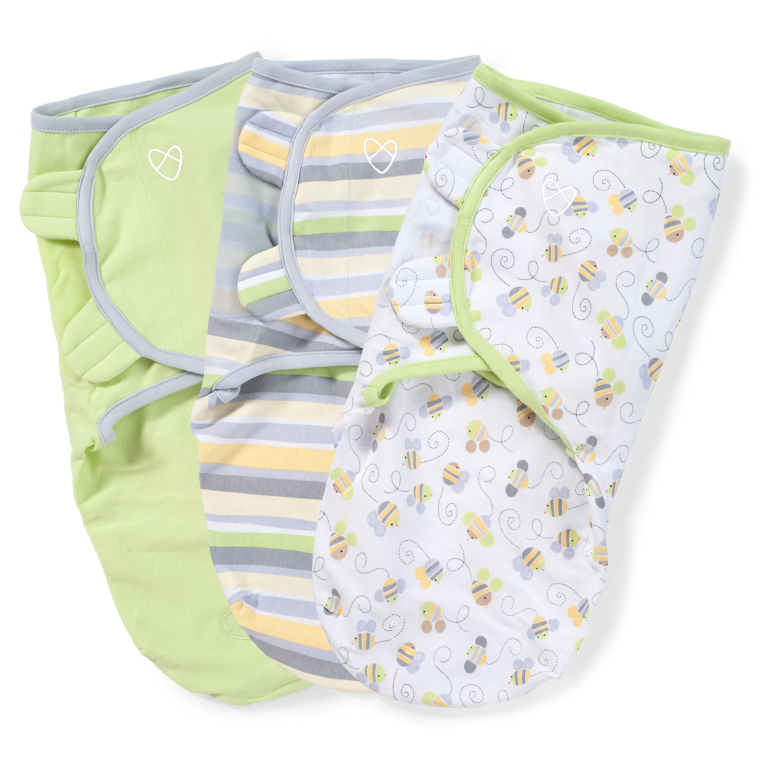 SwaddleMe Original Swaddle 3-PK, Busy Bees (SM) by SwaddleMe