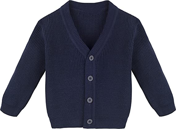 Kids Little Baby Boys Cardigan Sweater Long Sleeve V-Necked Knitted Button Coat Spring Autumn Tops for 2-6T