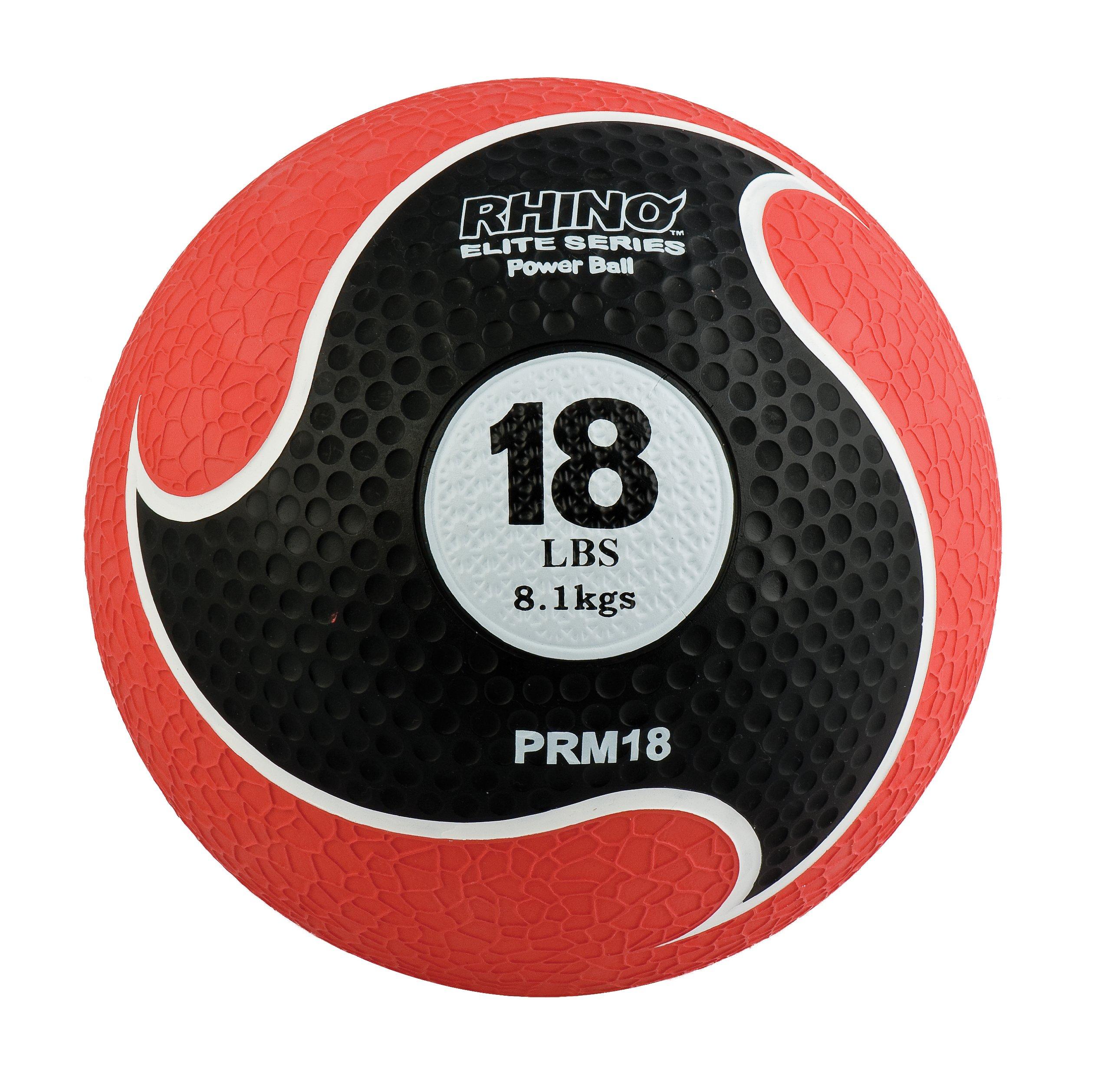Champion Sports Rhino Elite Medicine Ball (18 pounds), Red
