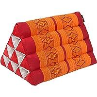 Pequeño cojín Thai triangular 33 x 20 cm cojín con relleno de kapok cojín triangular de Tailandia - Cojín decorativo y de soporte…