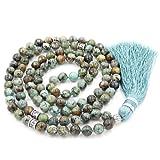 Amazon Price History for:Gemstone Mala Beads Necklace, Mala Bracelet, Buddha necklace, Hand Knotted Mala