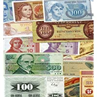GOLD MINT 7 Different European Foreign Currency World Banknotes Legal Collection Lot From 7 Europe Countries