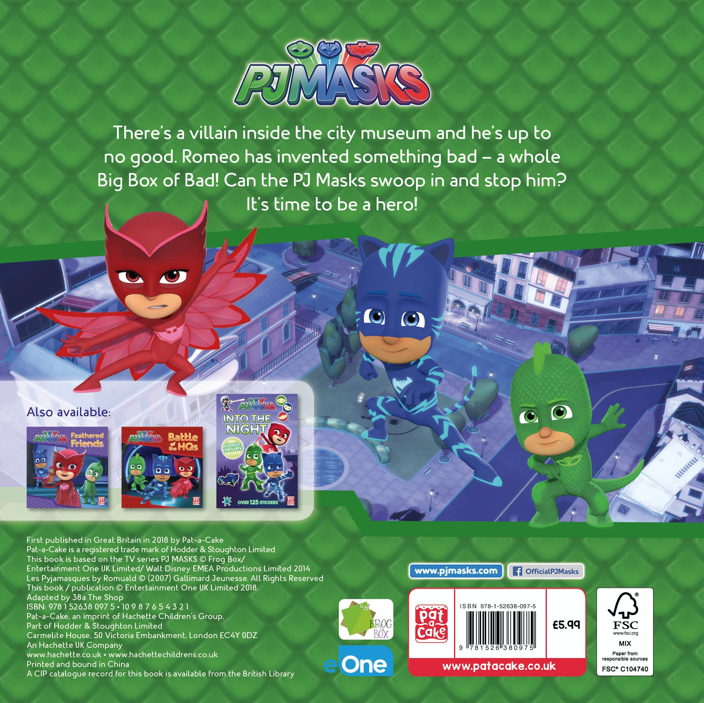 PJ Masks: Mayhem at the Museum: PJ Masks (author) Pat-a-Cake (author): 9781526380975: Amazon.com: Books