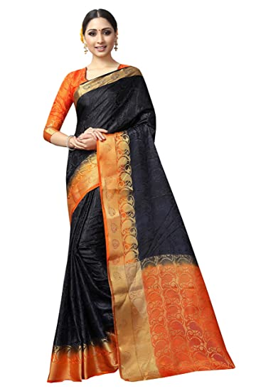 b7603a28b43 R K Trends Women's Cotton Silk Saree with Blouse Piece: Amazon.in ...
