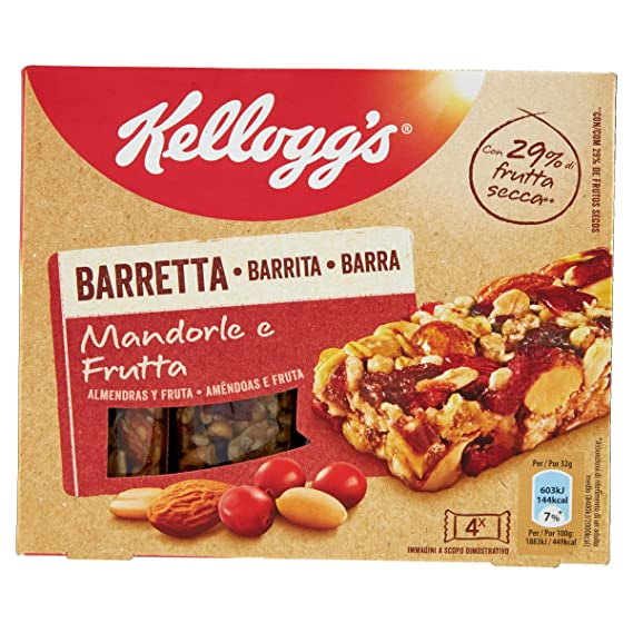 KELLOGG`S barritas de cereales almendras y frutas caja 128 gr ...