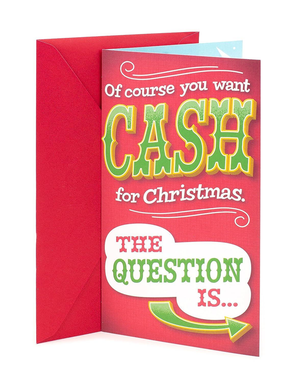 Amazon Com Hallmark Funny Christmas Gift Card Or Money Holder