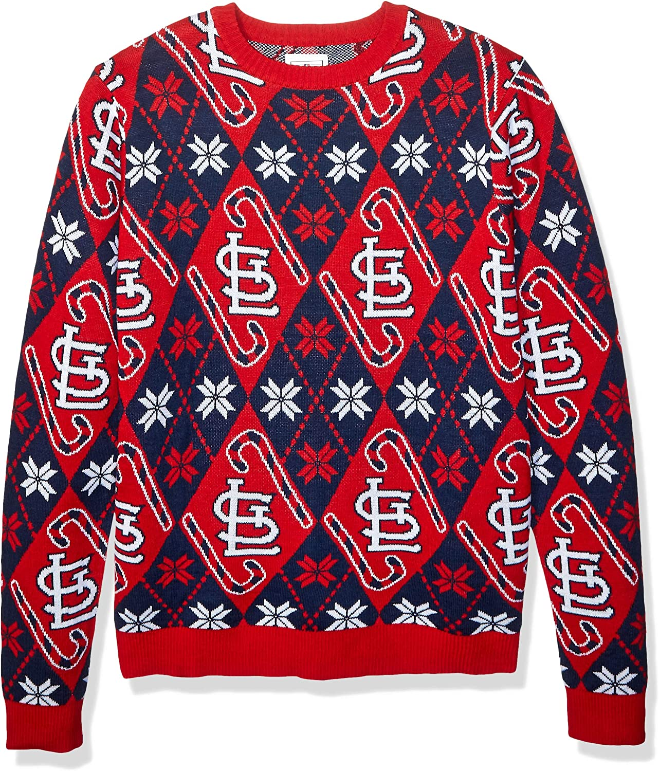 FOCO MLB Unisex Candy Cane Repeat Neck Crew Mens - Ranking TOP10 Ranking TOP6 Sweater
