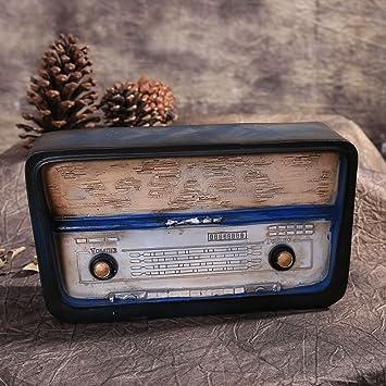 SU@DA Regalos creativos/hogar decoración/resina artesanía/antiguo/vintage radio/2pcs , picture: Amazon.es: Hogar