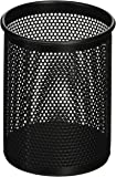 """Comix 4.1"""" Height Metal Pen and Pencil Holder, Oval Shaped, Wired Mesh Design, Durable Metal - Black (B2002BK)"""