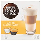 Nescafe Dolce Gusto Latte Macchiato Coffee Pods 16 Capsules - Pack of 3 (Total 48 Capsules, 24 Servings)