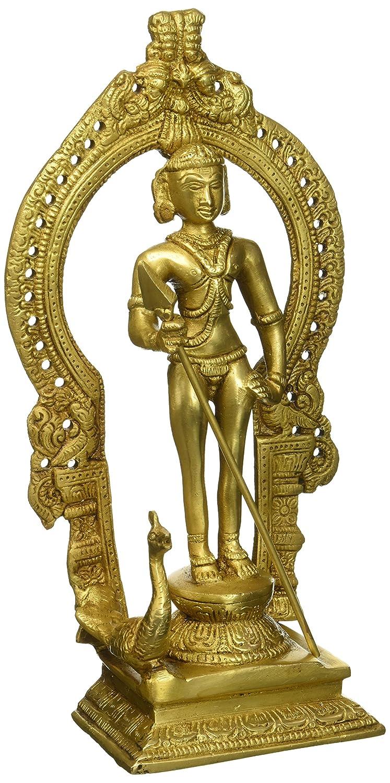 Gangesindia Standing Lord Kartikeya Brass Figurine