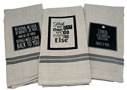 Amazon Com Twisted Anchor Trading Co Set Of 3 Funny Kitchen Towels