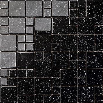 Glas Mosaik Fliesen Matte Steine In Zwei Größen Schwarz Mit - Mosaik fliesen größe
