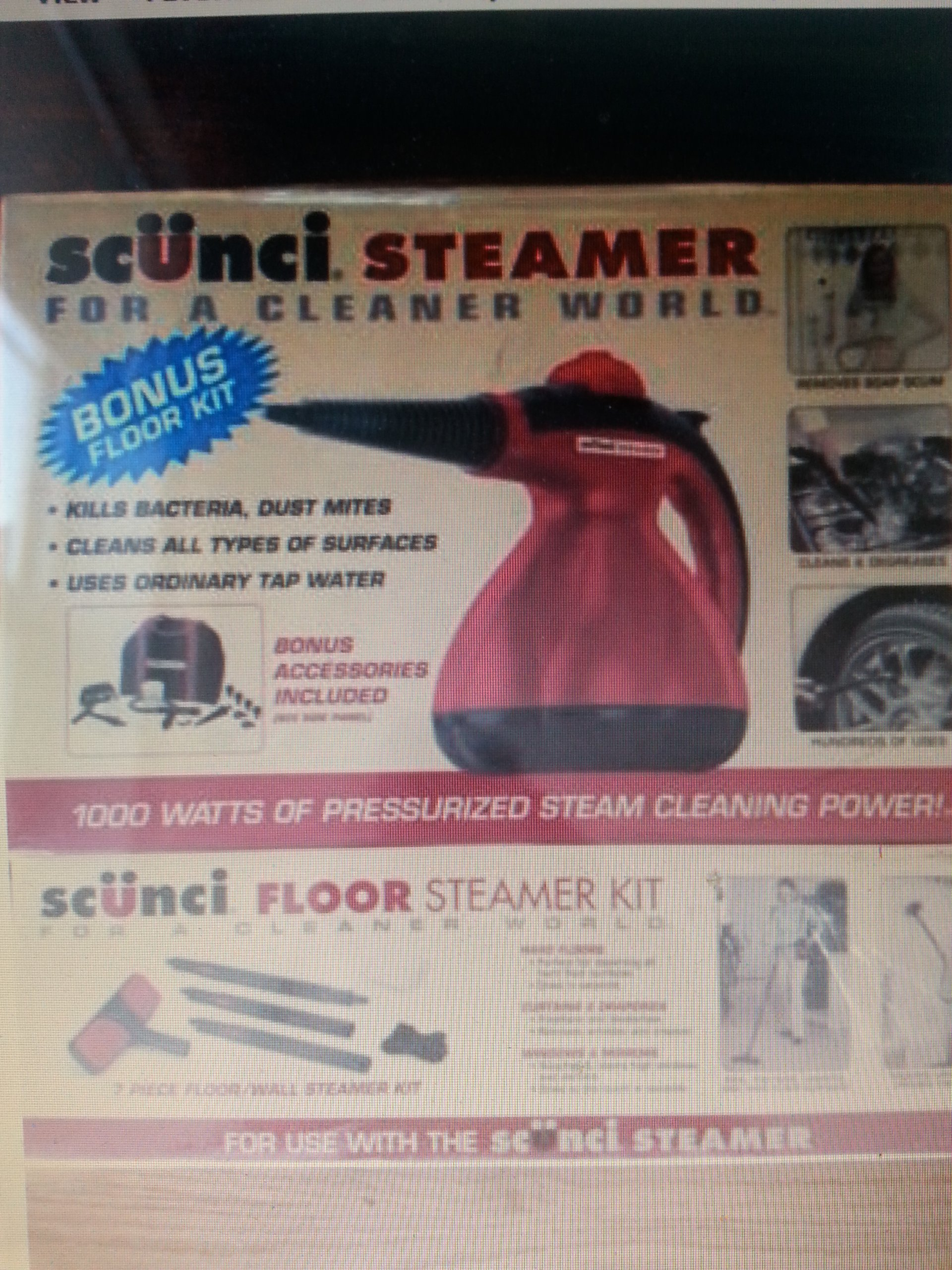 Scunci Hand Held Steamer Kit SS1000 ASOT Home Cleaner