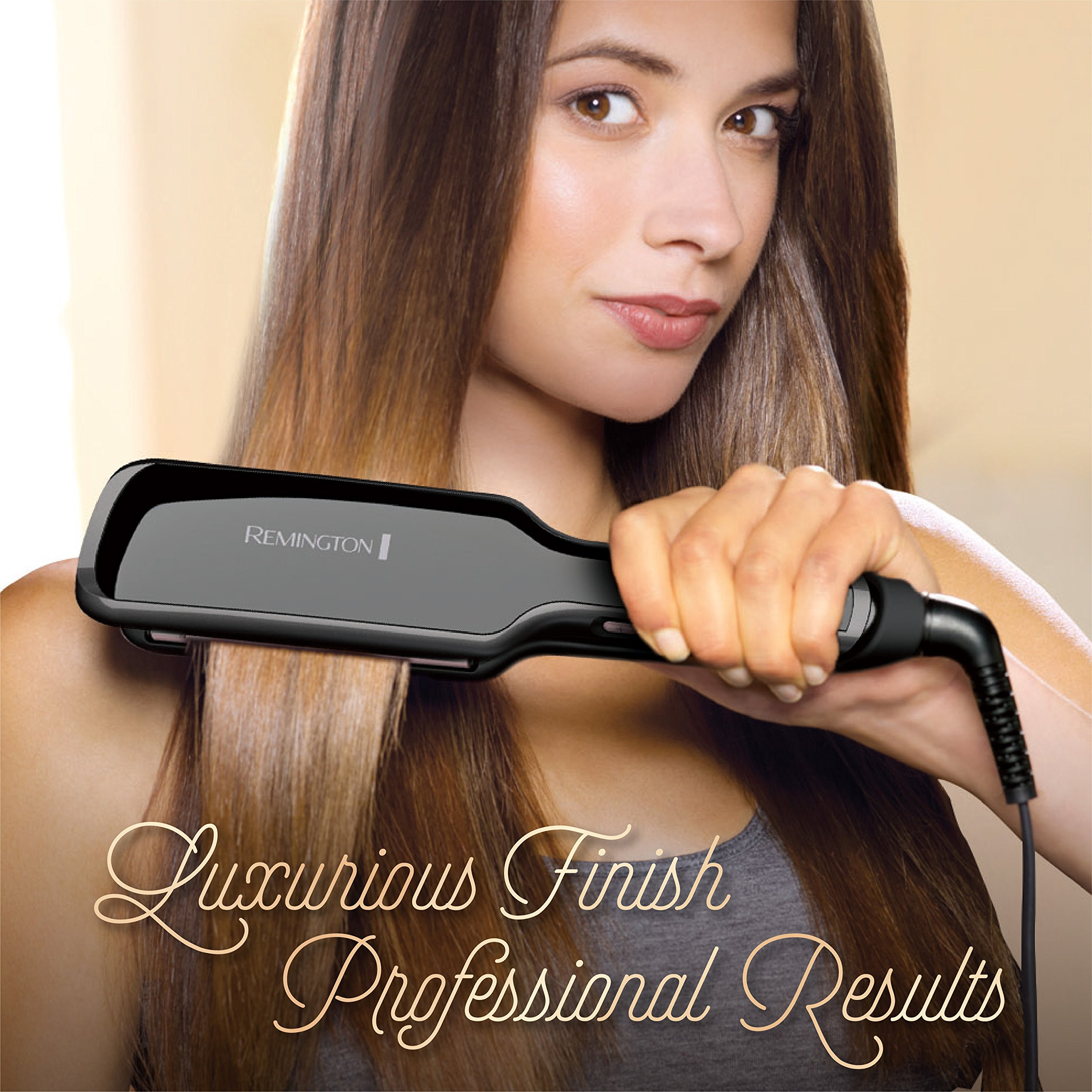 Remington Pro 2'' Flat Iron with Pearl Ceramic Technology and Digital Controls, Black, S9520 by Remington (Image #6)