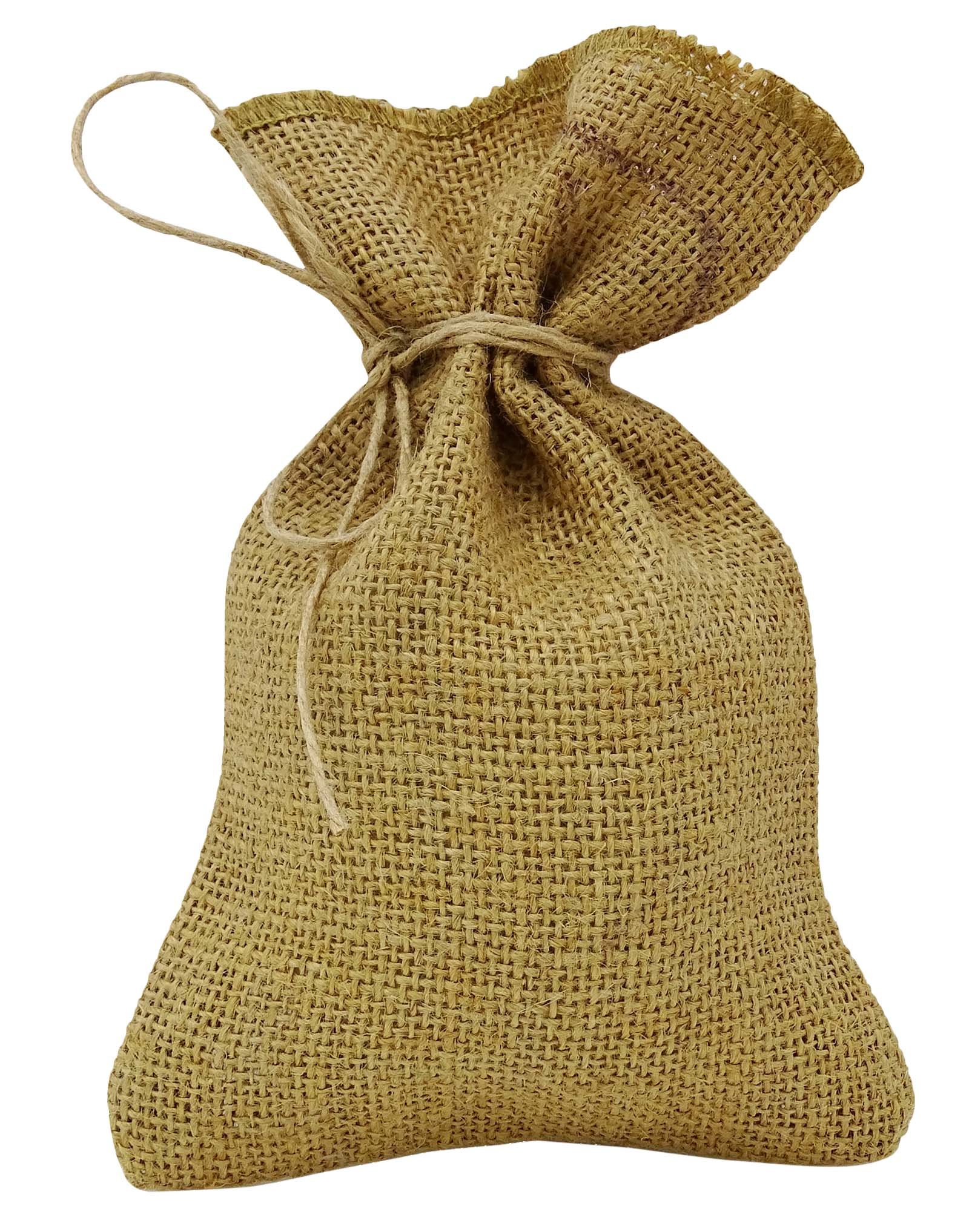 50 Natural Rustic Jute Drawstring Favor Bag Wedding Party Thank You Small Gift Sack Pouches 5'' x 7'' inches