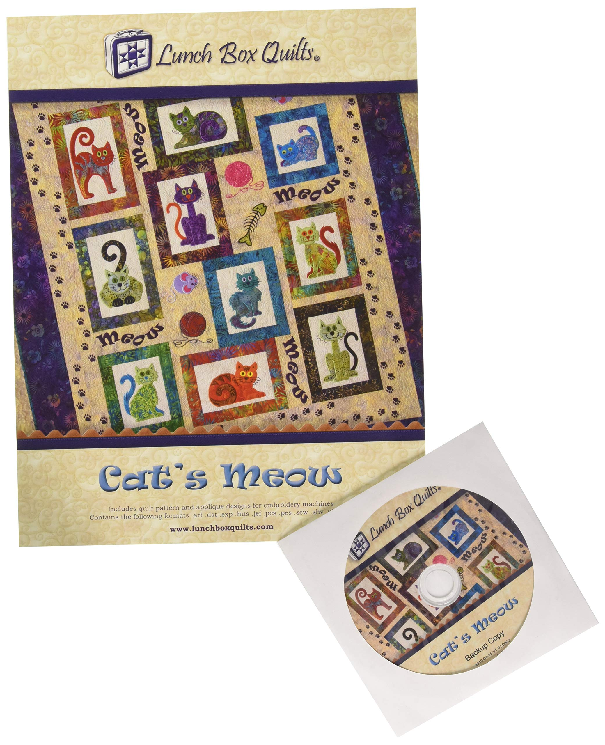Lunch Box Quilts Cat's Meow Pattern by Lunch Box Quilts