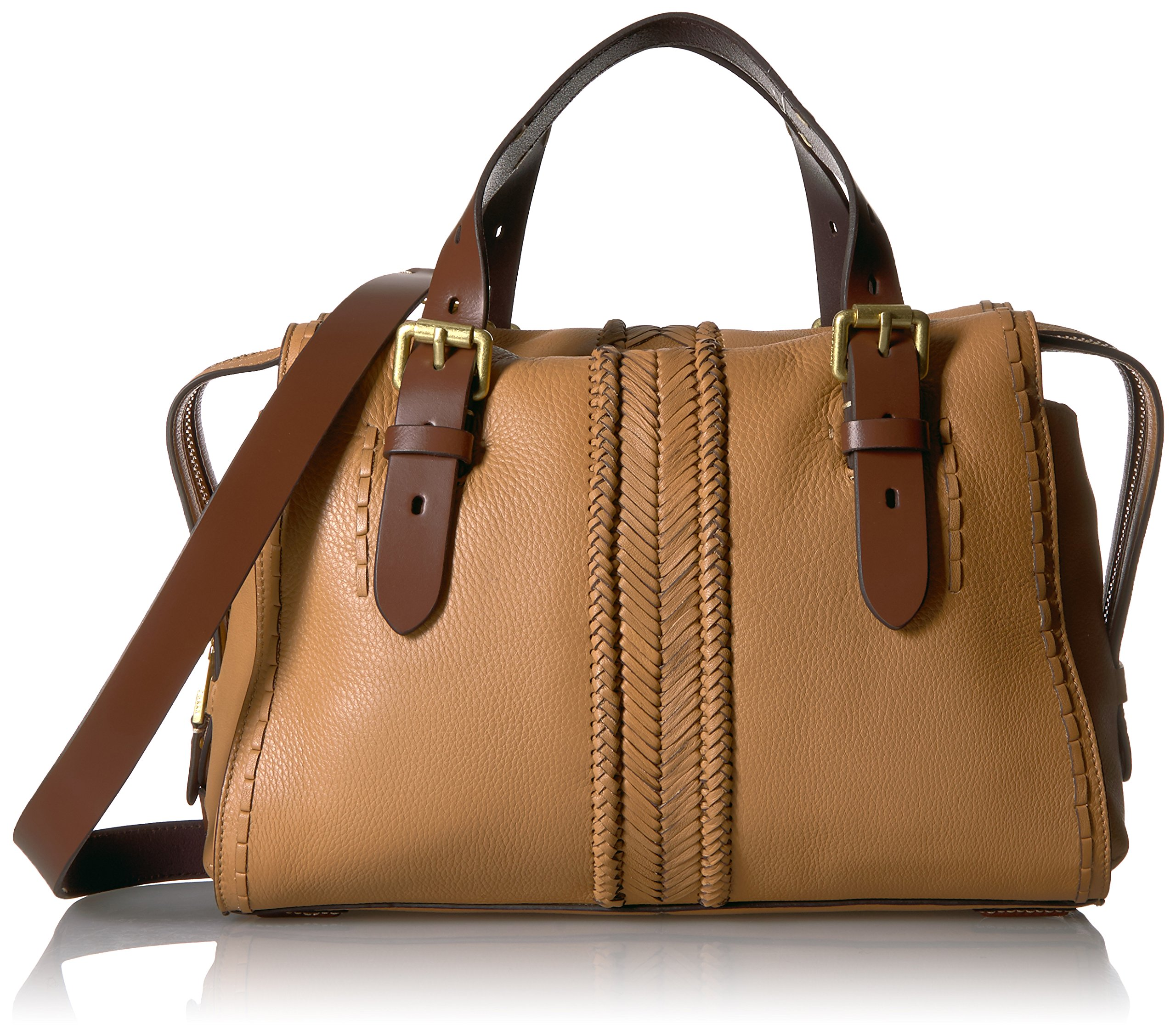 Cole Haan Loralie Whipstitch Satchel, Camel by Cole Haan