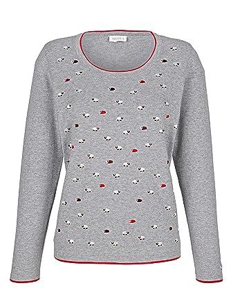 MONA Damen Pullover aus Baumwolle Hautfreundlich:
