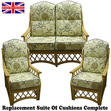 Hump Back NEW CANE SUITE CUSHIONS Conservatory Wicker Rattan