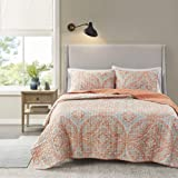 Comfort Spaces Reversible Quilt Set-Double Sided Vermicelli Stitching Design All Season, Lightweight, Coverlet Bedspread Bedd