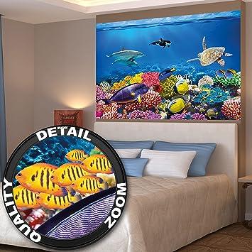 amazon.de: poster kinderzimmer aquarium wandbild dekoration ... - Kinderzimmer Deko Unterwasserwelt