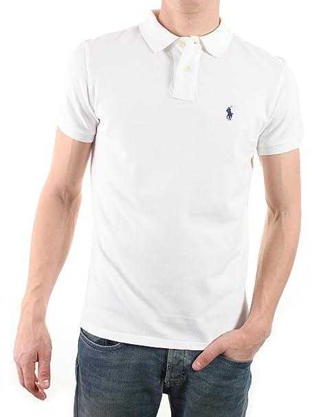 Polo Ralph Lauren - Polo - para Hombre Blanco Blanco: Amazon.es ...