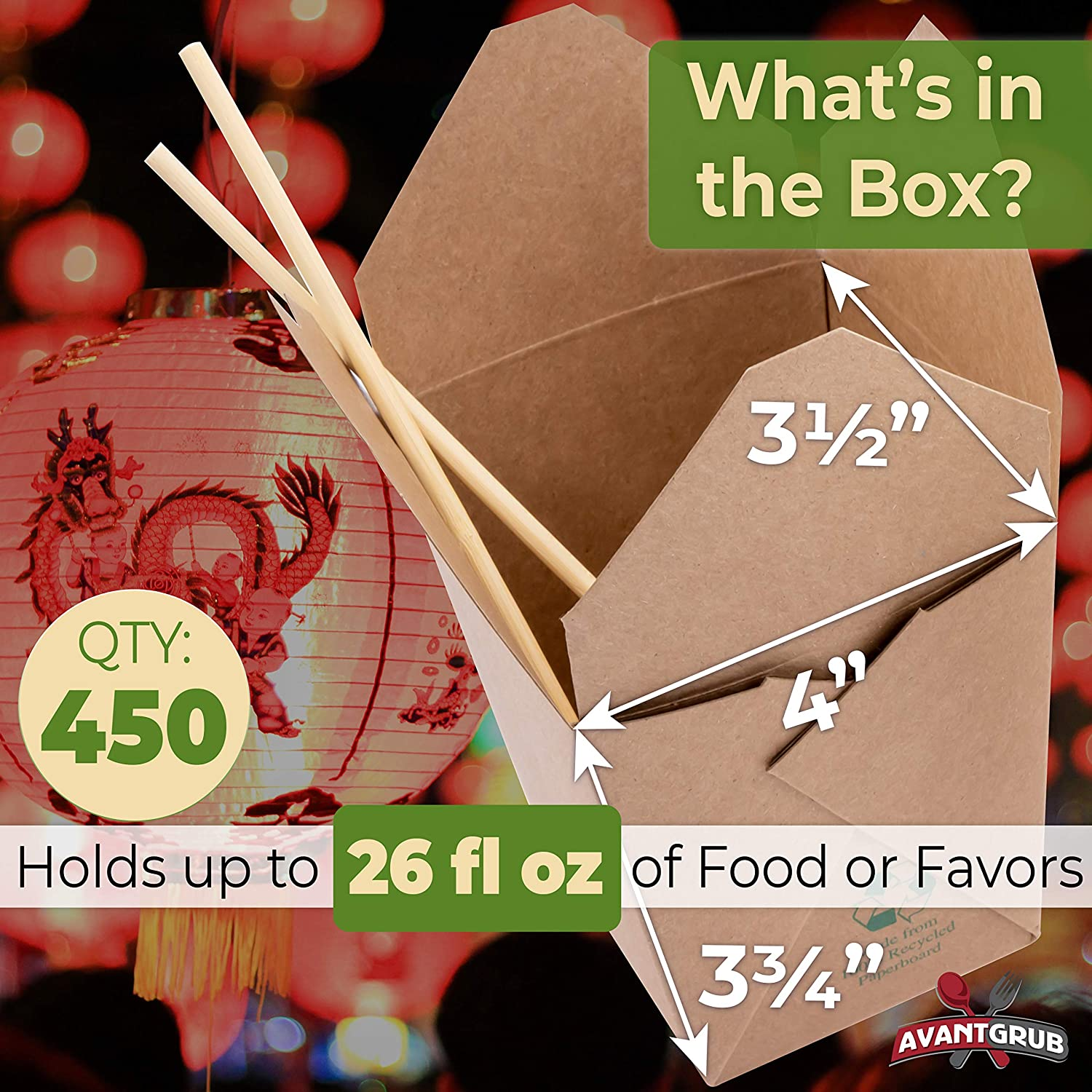Stackable to-Go Meal Pails Great for Weddings or Party Favors Eco-Friendly 32 Oz Chinese Take Out Boxes 25 Pk 100/% Recycled BPA-Free Takeout Containers are Leakproof and Microwavable Unbleached