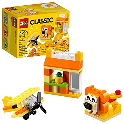 Amazon.com: LEGO Classic Orange Creativity Box 10709 Building Kit ...