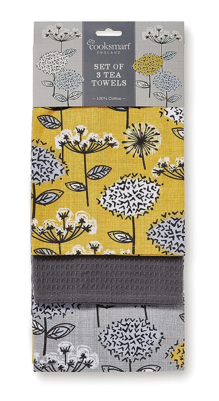Cooksmart Retro Meadow pack of 3 Tea Towels Citylook Imports