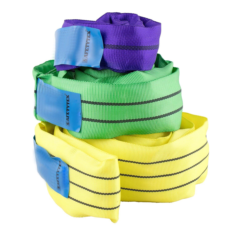 1000 kg // 1m Umfang Hebeschlinge Rundschlinge Schlupf Hebeband 1 bis 10 Tonnen Schlinge 1 bis 12 Meter Umfang w/ählbar