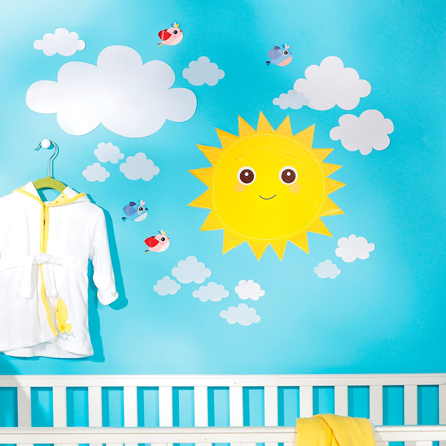 Wallies Wall Decals, Baby Sunshine Wall Stickers, Includes 2 Sheets