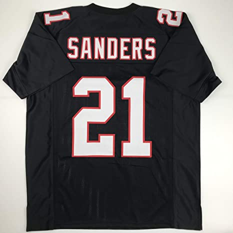 Image Unavailable. Image not available for. Color  Unsigned Deion Sanders  Atlanta Black Custom Stitched Football Jersey ... 88b9e5661