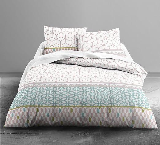 Today 013080 - Juego de ropa de cama Enjoy Kalinka (funda nórdica de 220 x 240 cm, 2 fundas de almohada de 63 x 63 cm, 100% algodón): Amazon.es: Hogar