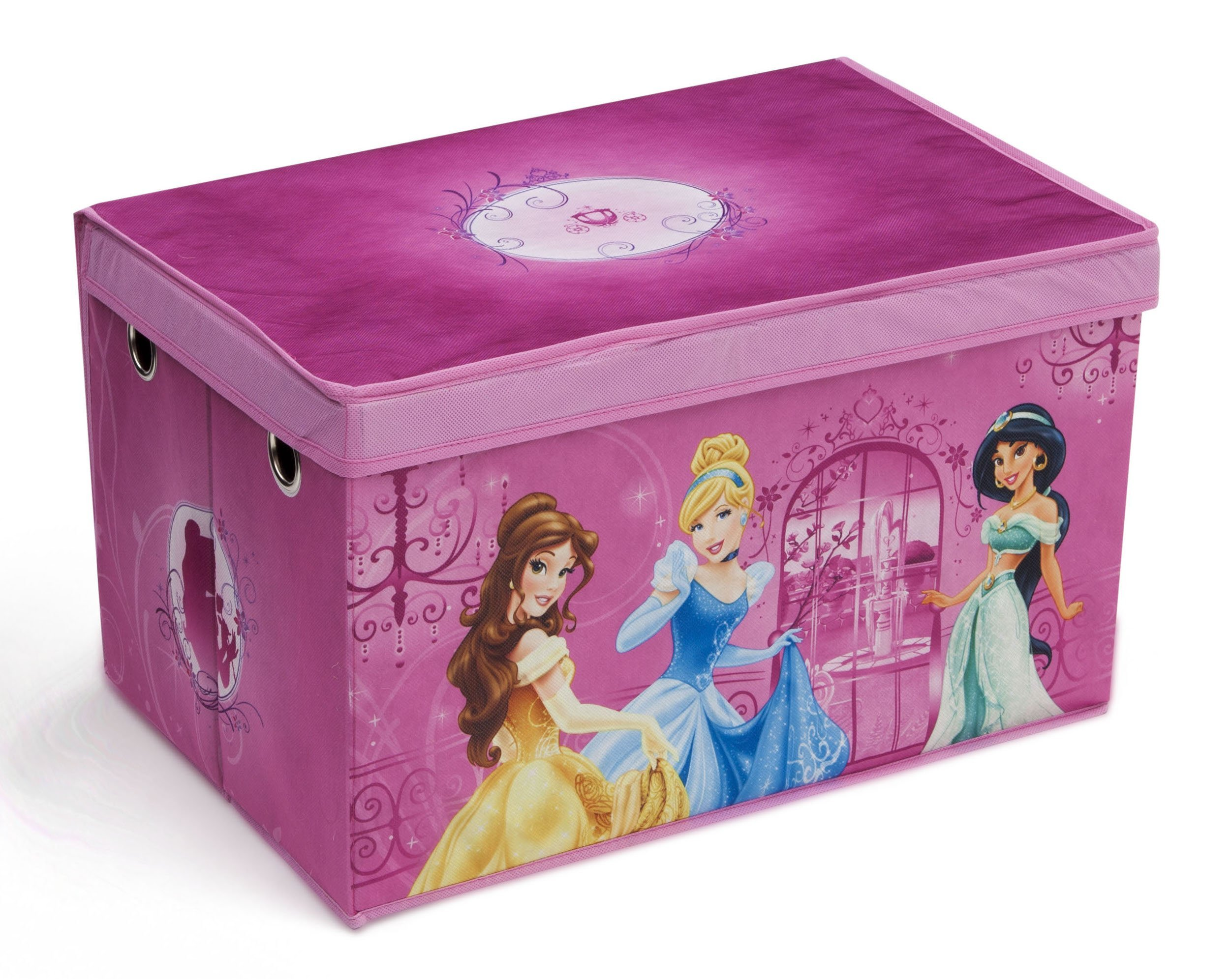 Princess Toys Box Storage Kids Girls Chest Bedroom Clothes: Amazon.com : Delta Children Collapsible Fabric Toy Box