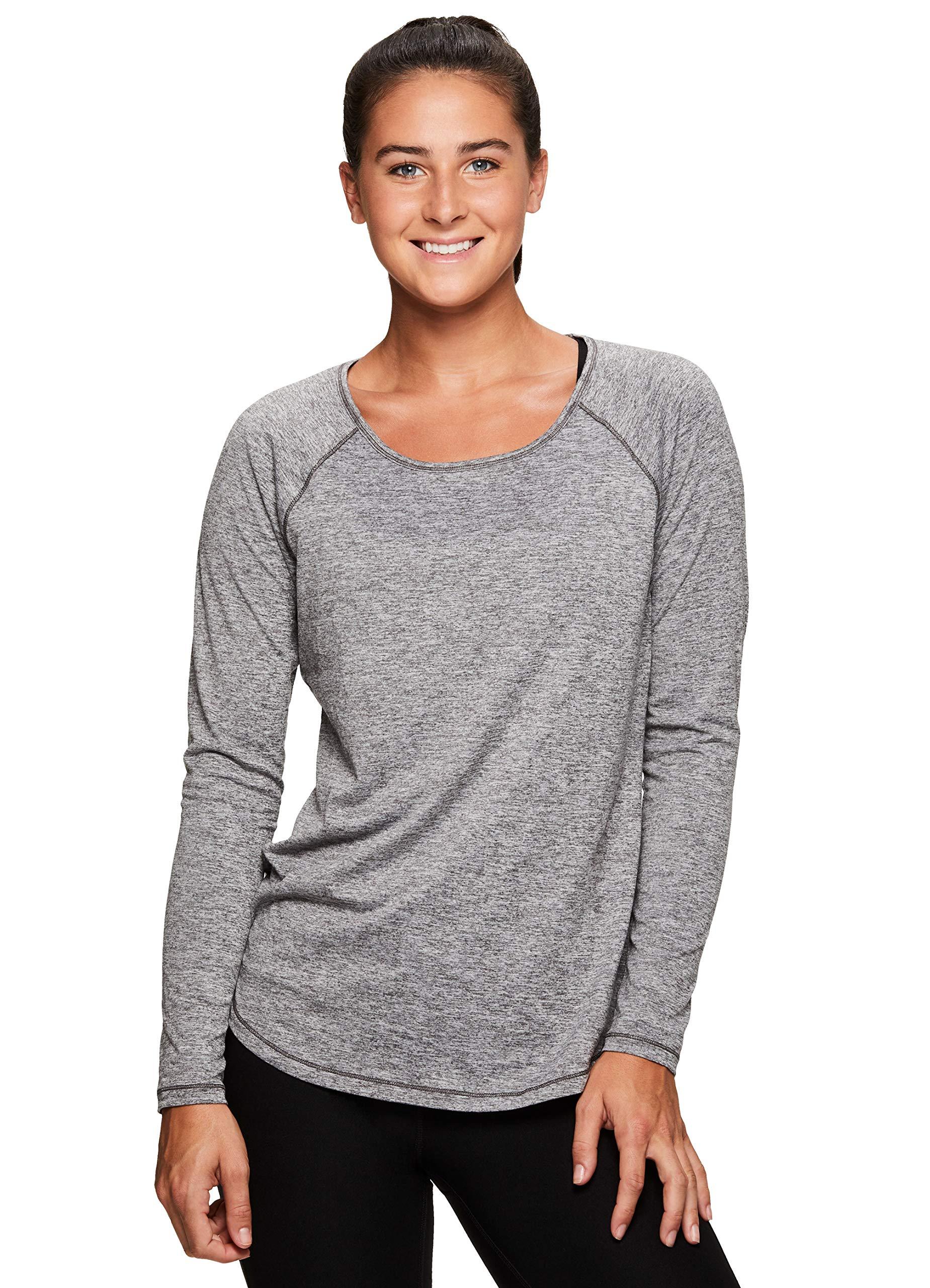 RBX Active Womens Fashion Athletic Yoga Long Sleeve Super Soft T-Shirt