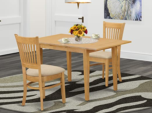 Amazon Com 3 Pc Dining Room Set Small Dining Table And 2 Dinette Chairs Table Chair Sets