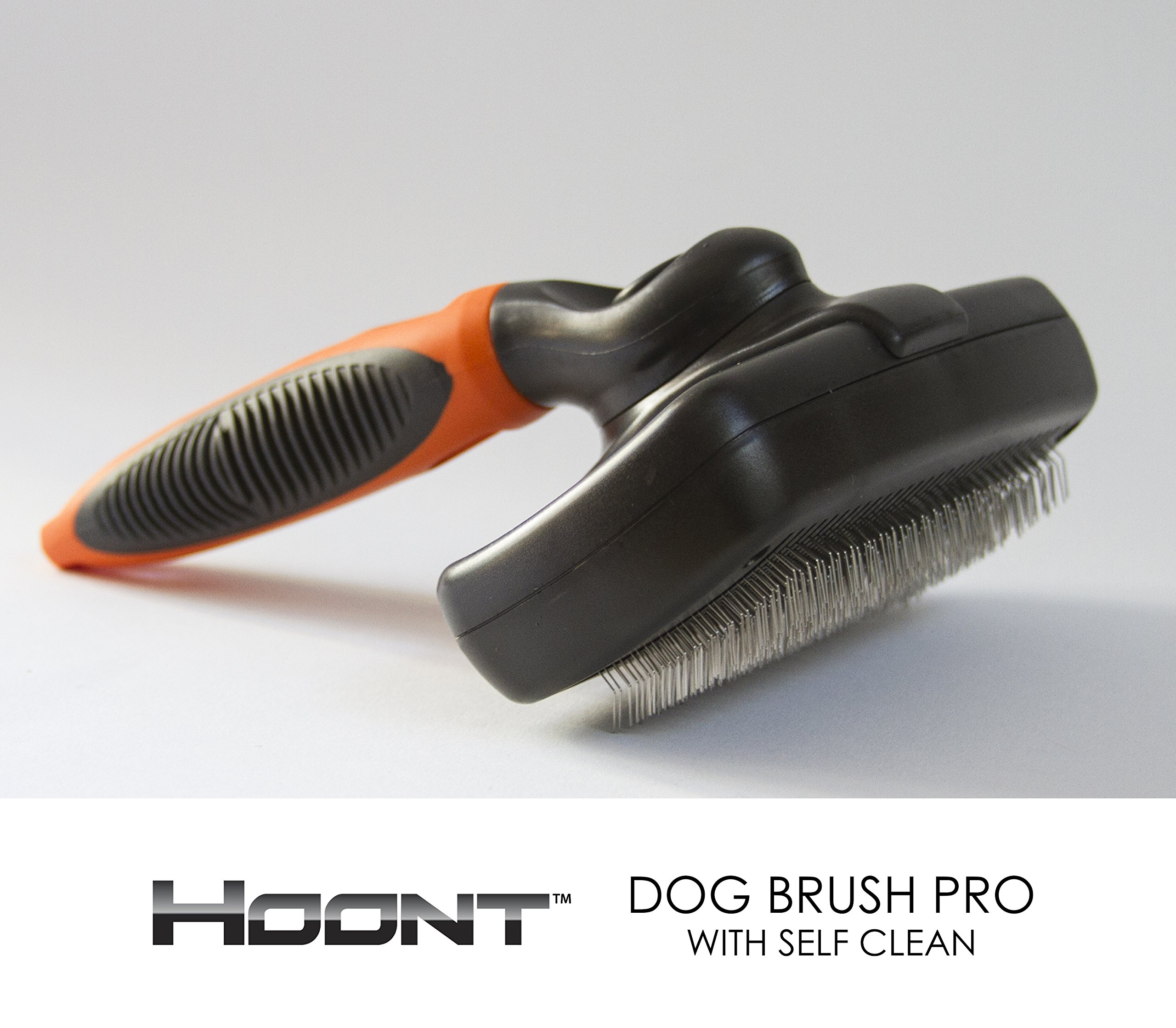 Hoont8482; Dog Brush Pro with Self Clean – Pet Slicker Brush for Dogs and Cats – Removes Loose Hair, Mats and Tangles – Deep Penetration and Leaves Pet's Hair Fresh, Healthy and Shiny