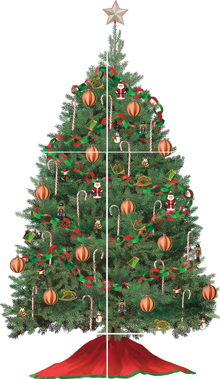 RoomMates RMK1203GM Build A Christmas Tree Peel U0026 Stick Wall Decal    Decorative Wall Appliques   Amazon.com