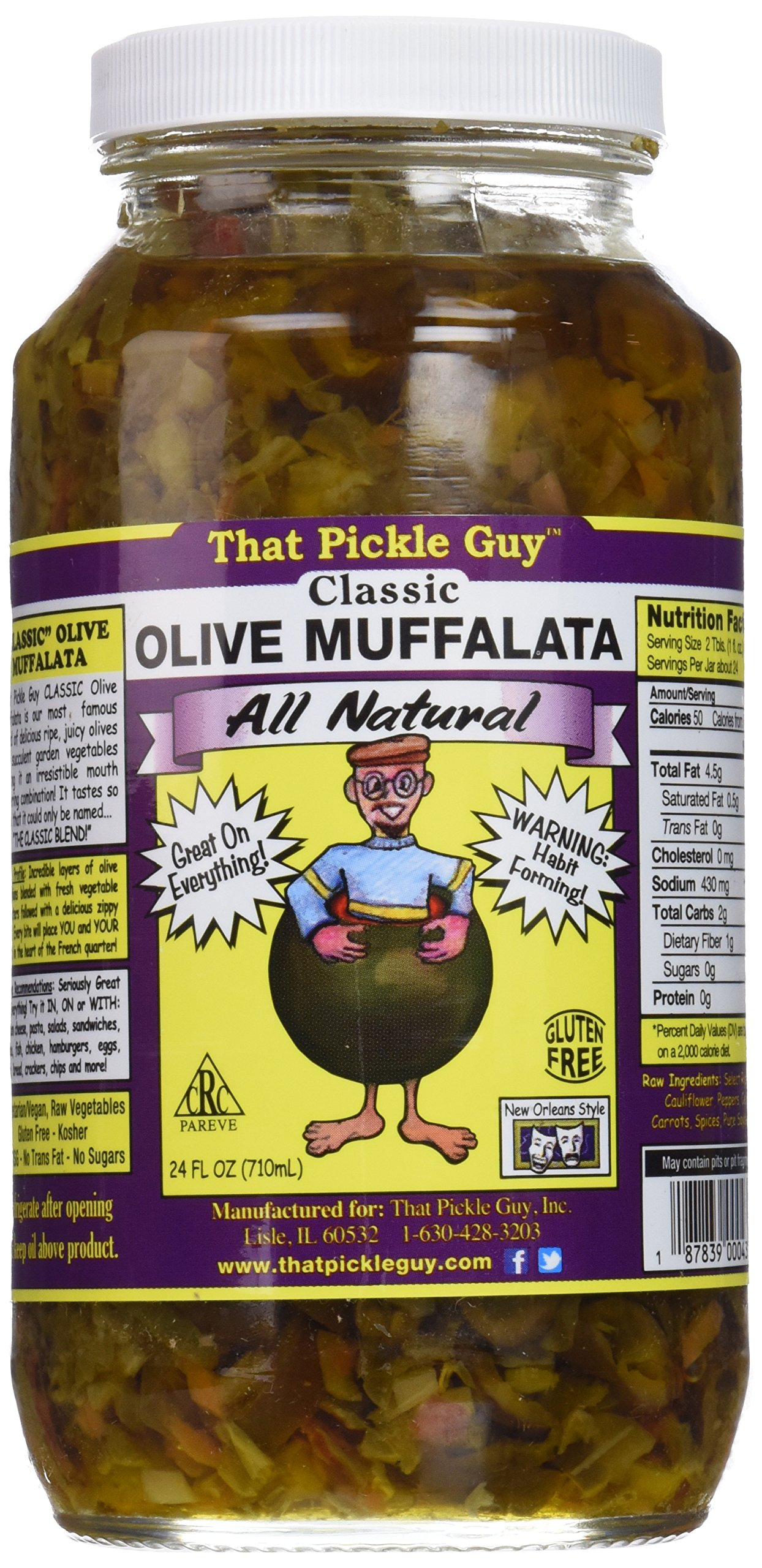 That Pickle Guy New Orleans Style Classic Olive Muffalata, All Natural, 24-ounce