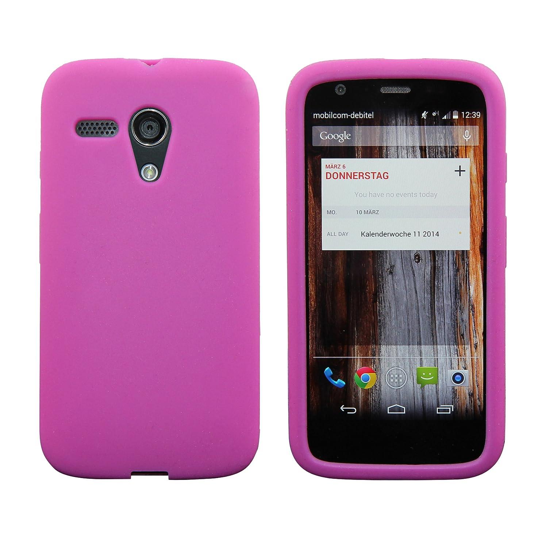 5595bd55a99 Luxburg® In-Colour Design funda protectora para Motorola Moto G 2013 en  color pink/rosa, funda carcasa de silicona TPU: Amazon.es: Electrónica