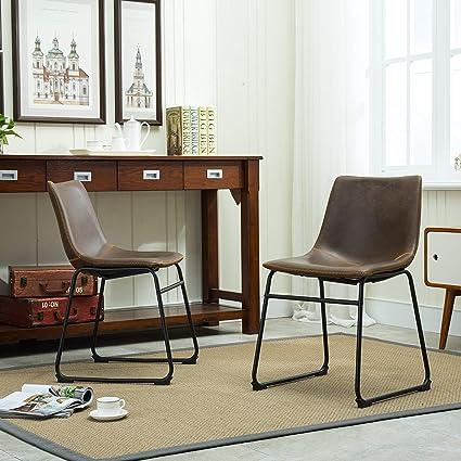 Amazon Com Roundhill Furniture Lotusville Vintage Pu Leather Dining