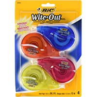 BIC White-Out Brand EZ Correct Correction Tape, 4 Count (WOTAPP418-WHI)