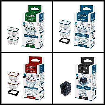 Ciano Filtro de Acuario Medios - Juego de Repuesto pequeñas/CF20/CF40: Amazon.es: Productos para mascotas