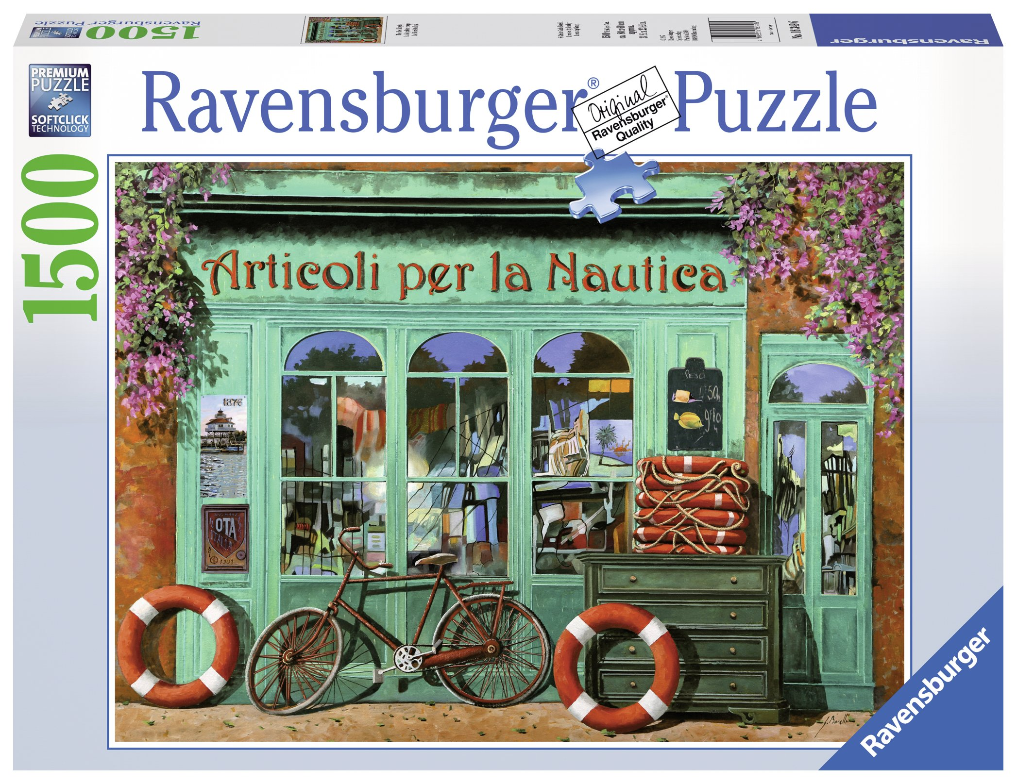 Ravensburger The Red Bicycle 1500 Piece Jigsaw Puzzle for Adults - Softclick Technology Means Pieces Fit Together Perfectly by Ravensburger