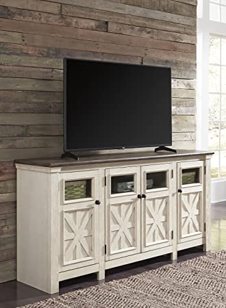 Amazon Com Bullerage Casual Two Tone Wood Extra Large Tv Stand