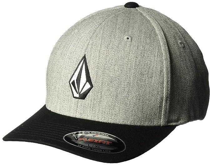 Amazon.com  Volcom Men s Full Stone Flexfit Hat  Clothing 4d1a4771eeff