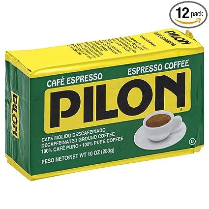 Pilon - Cafetera de café espresso descafeinado, 10 onzas ...