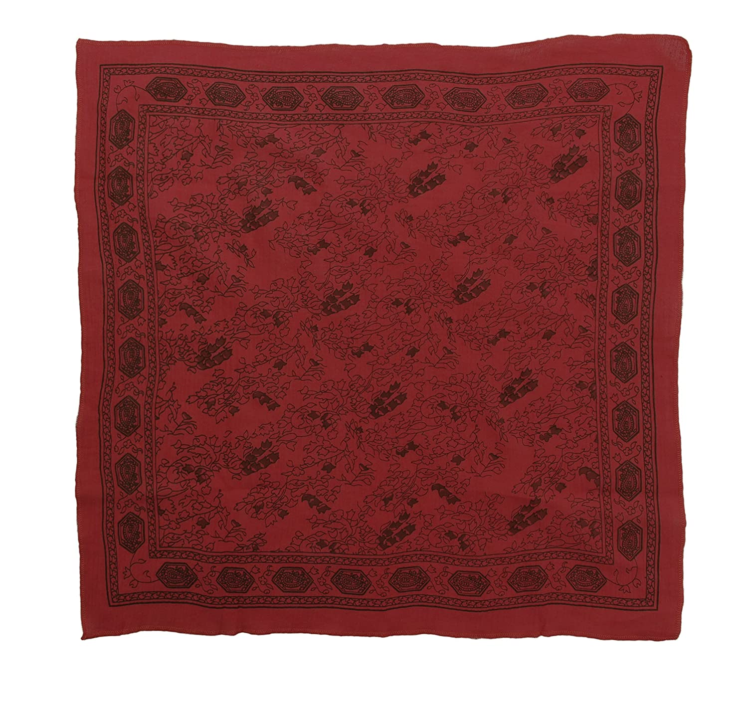 Jack Sparrow Style Red Print Pirate Costume Head Scarf - DeluxeAdultCostumes.com