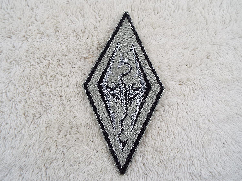 Amazoncom Elder Scrolls Skyrim Dragon Embroidered Iron On Patch